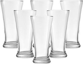Ocean Pilsner Beer Glass, Pack of 6, Clear, 340 ml, B00912