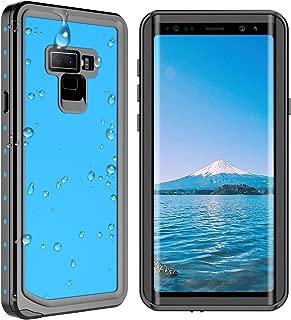 SPIDERCASE Samsung Galaxy Note 9 Waterproof Case, Shockproof Snowproof Dirtproof IP68 Certified Waterproof Case for Samsung Galaxy Note 9 (Blue/Transparent)