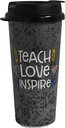 Whirley Teach,  Love,  Inspire 16oz Thermo Tumbler