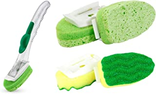 Libman Dish Sponge Dishwand Soap Dispenser w/4 Refills (2 Types) Kitchen Cleaning Bundle Value