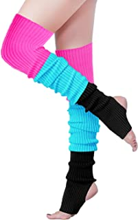 Women Over Knee Cable Knit Ribbed Crochet Long Boot Leg Warmers