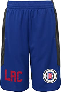 NBA Kids & Youth Boys Jump Ball Short Los Angeles Clippers-Charcoal-L(7)