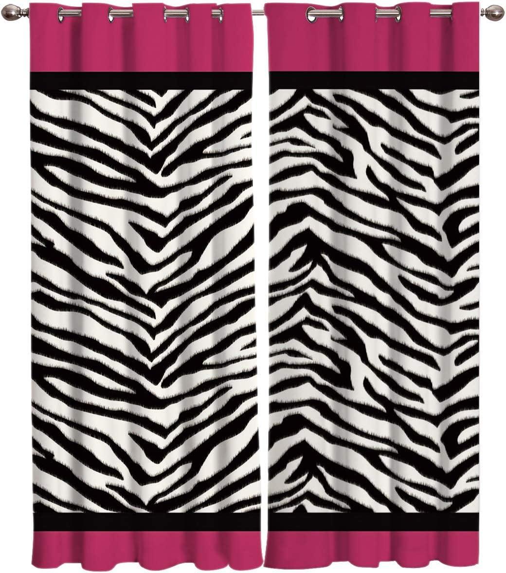 Vandarllin Animal Zebra 激安価格と即納で通信販売 Print Window Treatments Panels 割引 of 2 Sets