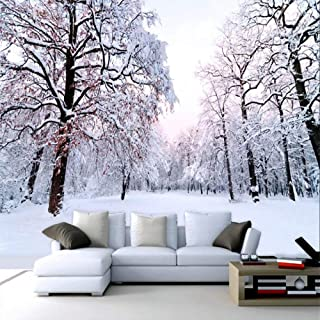 Wall Mural 3D Hd Winter Snow Scene Beautiful Custom Wallpaper 3D Effect Large Mural Wall Murals Home Decor,200cmx140cm