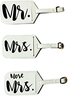 bride groom luggage tags