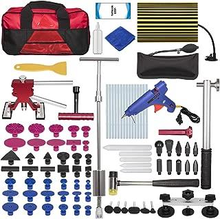 Bonbo 100pcs Car Body Paintless Dent Repair Removal Tools, Auto Dent Puller Kit Automotive Door Ding Dent Silde Hammer Glue Puller Repair Starter Set Kits for Car Hail Damage and Door Dings Repair