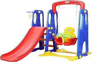 Keezi Kids Slide Set Play Playground Swing Basketball Hoop
