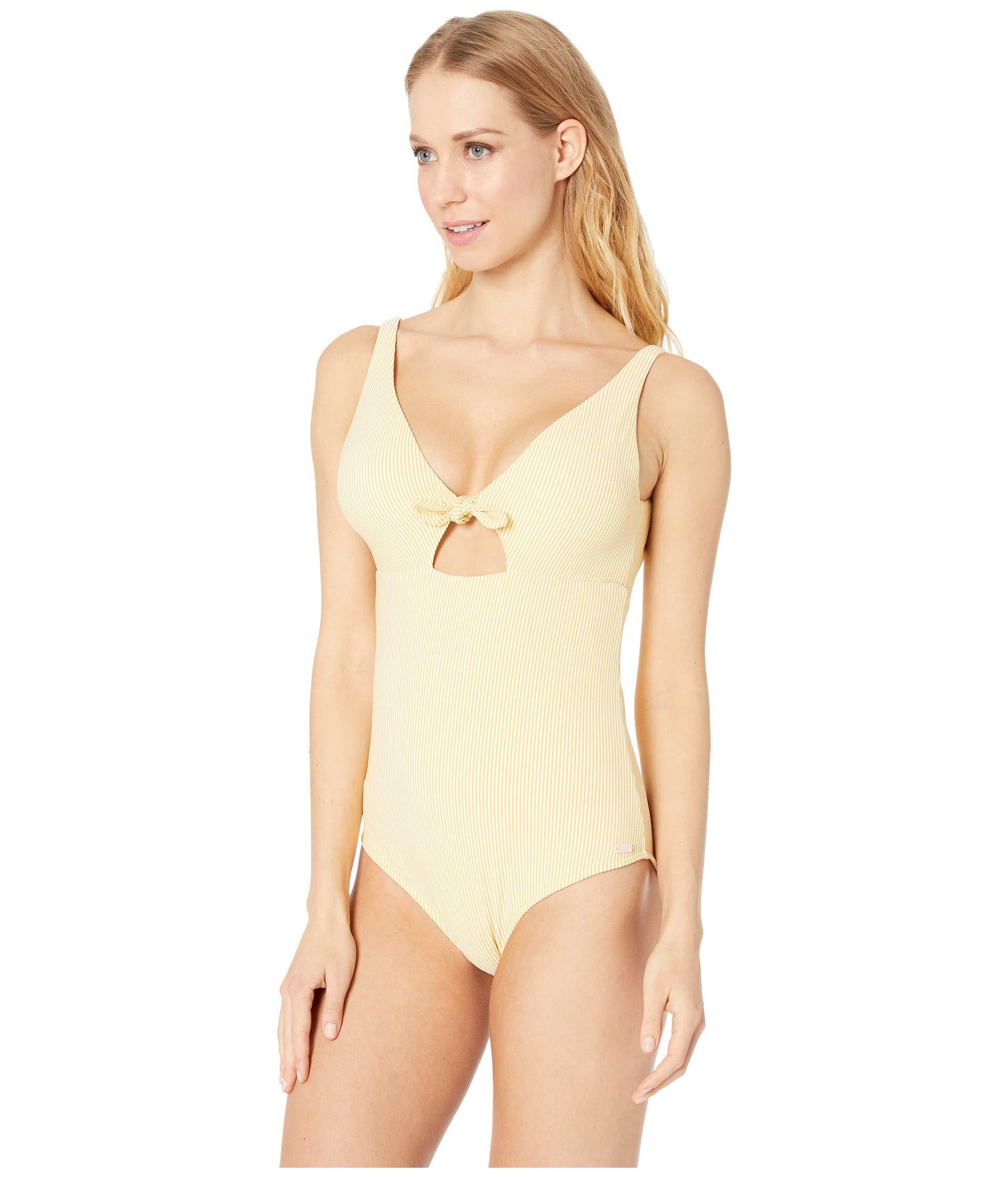 Bali Roxy One piece Cornfield Swimsuit Dreamers Stripes Ochre gZx8aw4q