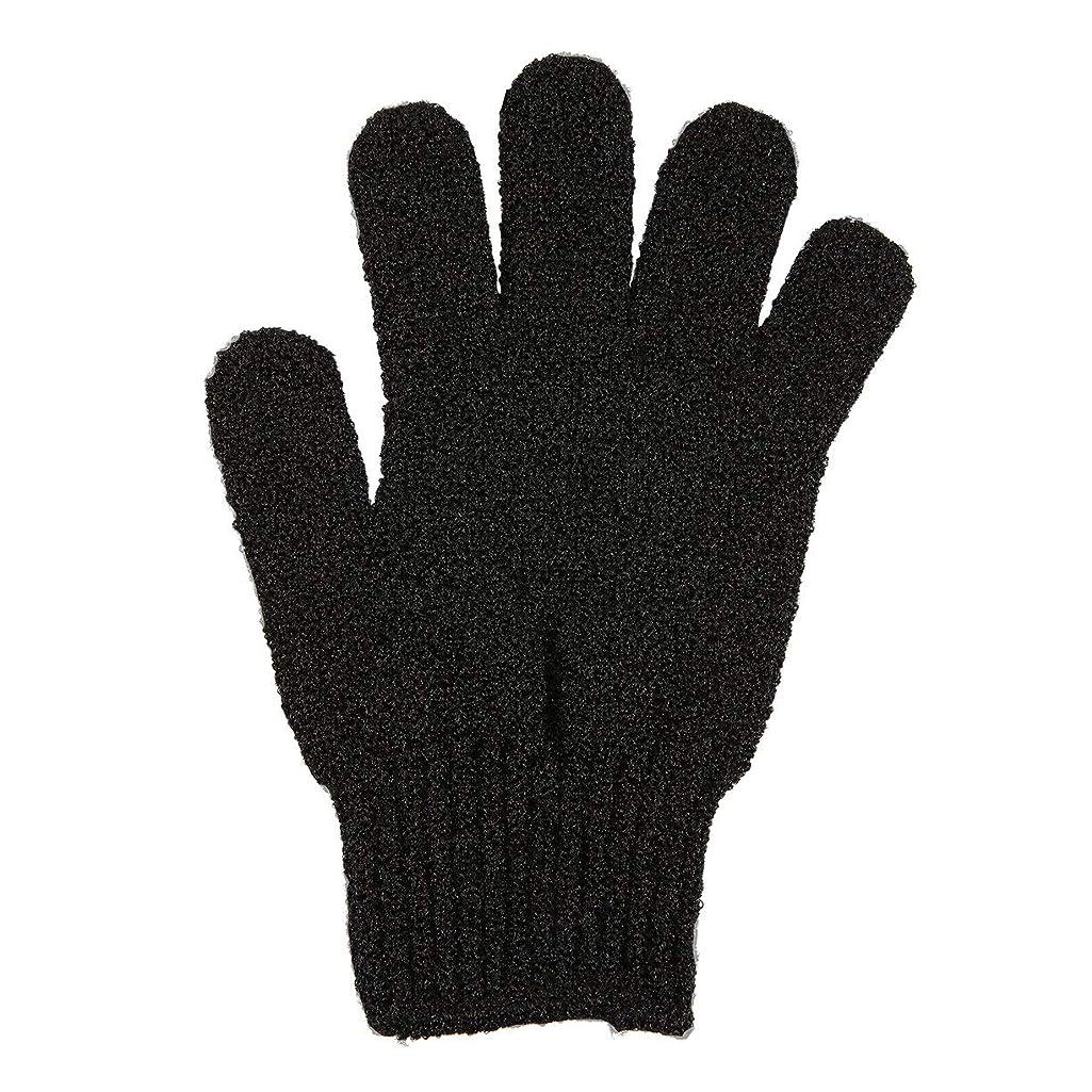 ギャングスター暖炉幸運なことに角質除去手袋フルボディスクラブデッドセルソフトスキン血液循環シャワーバススパ剥離アクセサリー - ブラック