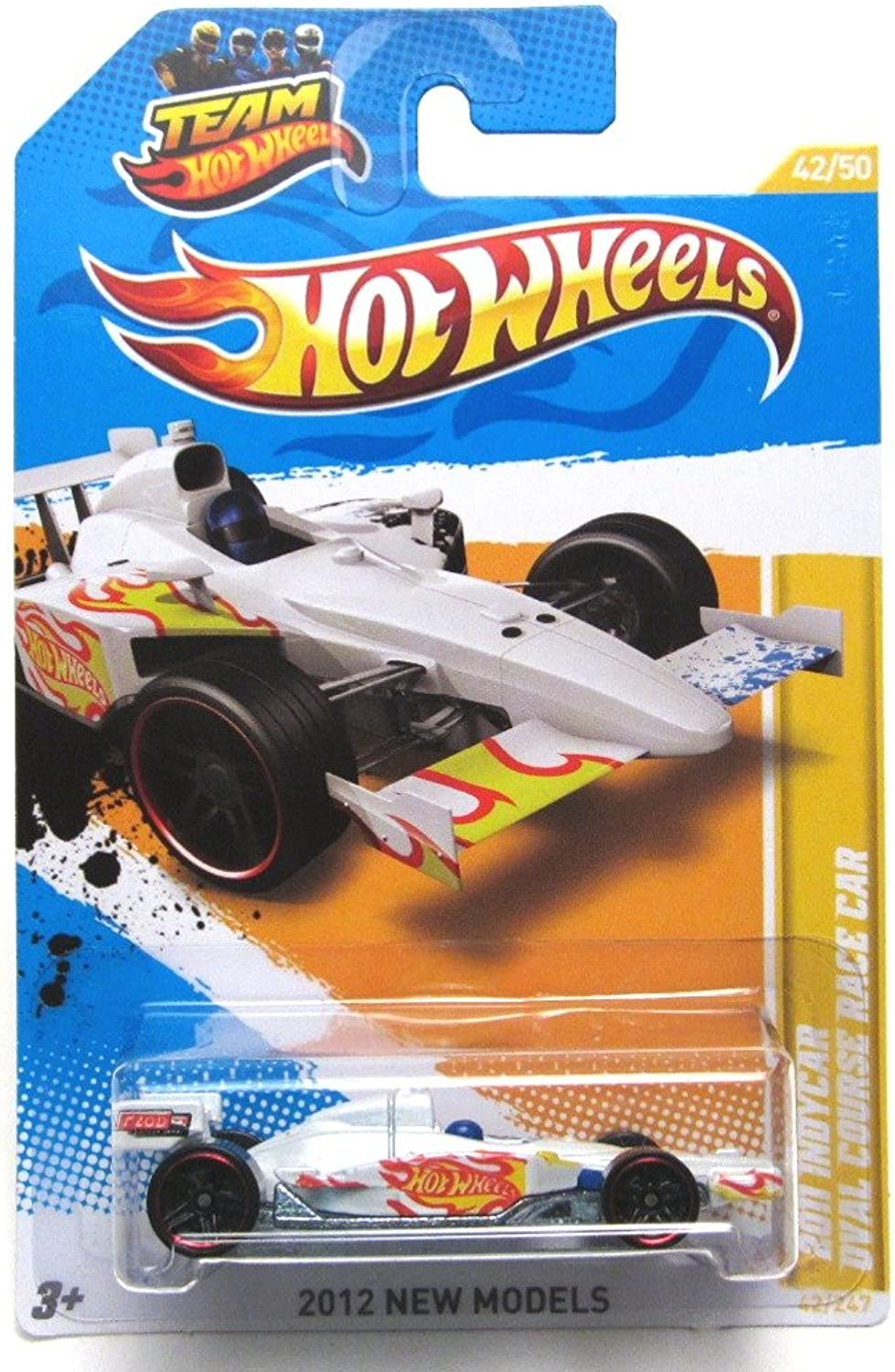 2012 Hot Wheels New Models 2011 Indycar Oval Course Race Car White  42 247