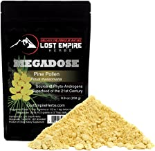 Wild Harvested Pine Pollen Megadose (250g) - NON-IRRADIATED! - Nootropic Herb Supports Immune System Health, Boosts Energy, Antioxidant & Androgenic - Gluten Free/Vegan/Paleo/Keto Friendly