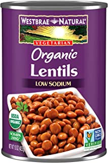 Westbrae Natural Vegetarian Organic Lentils, 15 Oz, 1 pack