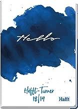 Häfft - Agenda tamaño A5, 2018/2019, encuadernación con costura de hilo, tapa dura, esquinas redondeadas, calendario académico, plan semestral, agosto 2018-septiembre 2019