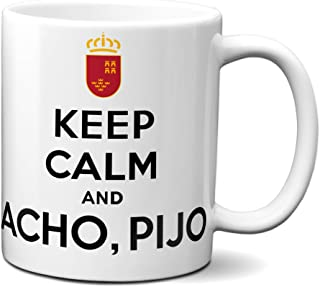 Planetacase Taza Keep Calm and acho, pijo Murcia Ceramica