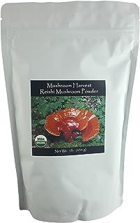 Reishi Full Spectrum Mushroom Powder by Mushroom Harvest | Certified Organic 1 lb. | Grown in USA | Highest Level of Purit...