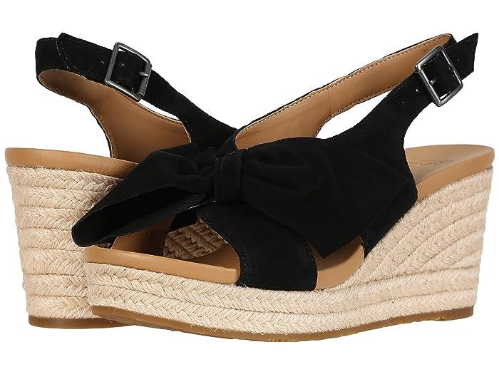 1940s Style Shoes, 40s Shoes UGG Camilla Black Womens Sandals $66.04 AT vintagedancer.com