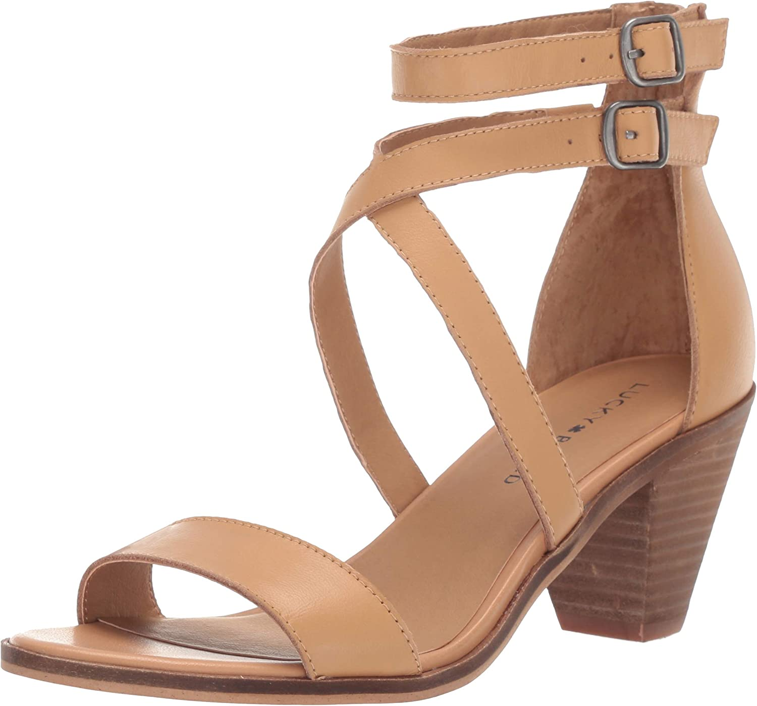 Lucky Brand Womens Ressia High Heel Heeled Sandal