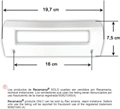 Recamania® - Tirador Frigorifico Blanco Balay Crolls Superser, 19,7 x 7,5cm, Anclaje 16cm