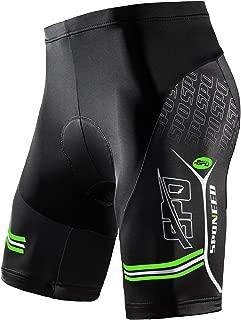 sponeed Men's Bike Shorts Gel Padded Bottoms Cycling Pants Tights Bicycle Clothes Biking Gear