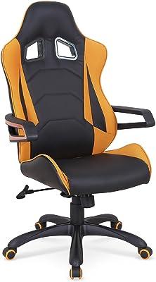 CARELLIA Silla de Oficina – Naranja/Negro