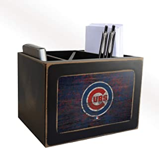 Fan Creations MLB Chicago Cubs Distressed Team Logo Desktop Organizer with Color