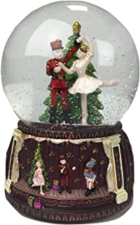 Musicbox Kingdom Snow Globe Nutcracker Ballet with Melody Nutcracker Suite by Tchaikovsky Decorative Item