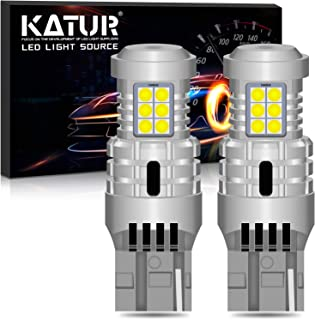 KATUR T20 7440 W21W 7440NA LED Bulbs Super Bright 12pcs 3030 & 8pcs 3020 Chips Canbus Error Free Replace for Turn Signal Reverse Brake Tail Stop Parking RV Lights,Xenon White(Pack of 2)