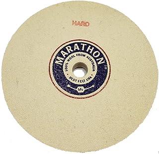 Diamond Hard Density Marathon 5 Felt Honing Wheel 1//2 Arbor Hole 1//2 Thick