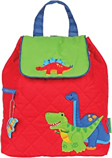 Boys Quilted Dinosaur Backpack with Coloring Activity Book - Kids Bags
