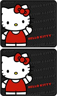 Plasticolor Rear Seat Utility Rubber car Truck SUV Floor Mats - Hello Kitty Sanrio Waving - Pair