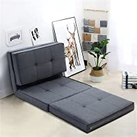 Artiss Adjustable Floor Lounge Sofa Foldable Recliner Linen Chaise Chair Grey