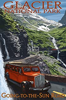 Glacier National Park, Montana - Going-To-The-Sun Road (9x12 Art Print, Wall Decor Travel Poster)