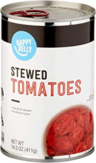 Amazon Brand - Happy Belly Stewed Tomatoes, 14.5 Ounce