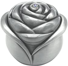 AVESON Vintage Rose Flower Style Antique Women Trinket Jewelry Gift Box Necklace Earrings Ring Storage Case, Sliver, Small