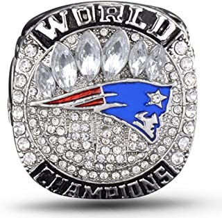 AJZYX New England Patriots 2018-2019 Super Bowl LIII Ring NFL Replica Championship Rings Collectible Souvenir Size 9-12