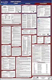 2019 California Labor Law Poster, All-in-One OSHA Compliant CA State & Federal Laminated Poster (26