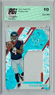 Deshaun Watson 2017 Unparalleled #RS-DN Jumbo Patch 25 Made Rookie Card PGI 10 - Football Slabbed Rookie Cards