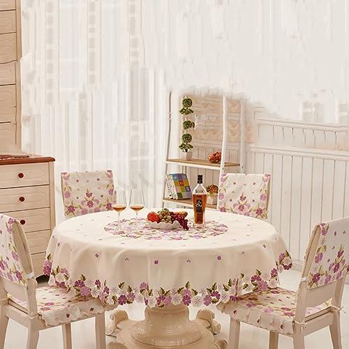 William 337 Runde Tischdecke beStückte Tuch Tischdecken EuropäischenTischdecke Couchtisch Tuch (Größe   Round-145cm)