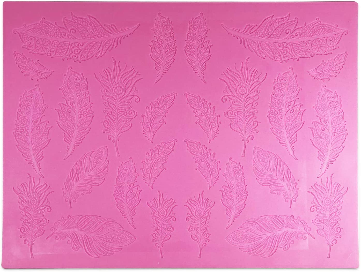 Feathers 3-D Silicone Lace Mat Raleigh Mall Claire Bowman Max 80% OFF by