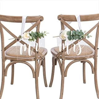Best mr and mrs wedding chair signs Reviews