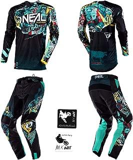 O'Neal Mayhem Lite Savage Adult Motocross MX Off-Road Dirt Bike Jersey Pants Combo Riding Gear Set
