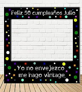 Tu Fiesta Mola Mazo Photocall de cumpleaños 100x100cm| Divertido y económico|Detalle de cumpleaños