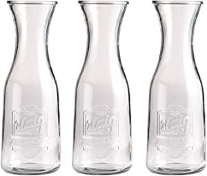 Style Setter Main Street Glass Pitchers, 2.9 x 7.6, Clear