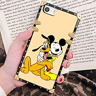 Square Corner Case Cover Fit for iPhone 5/5S/SE [5.5 Inch] Mickey Mouse Disney Colouring Pages
