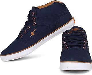 Sparx Men's Navy Blue Tan Canvas Shoes -7 UK