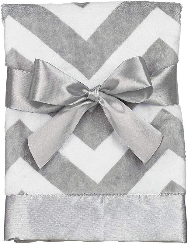 Bearington Baby Chevron Small Security Blankie Grey 16 X 16