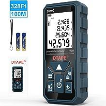 Laser Measure, DTAPE 328 Feet Digital Laser Tape Measure M/In/Ft Unit switching Backlit..