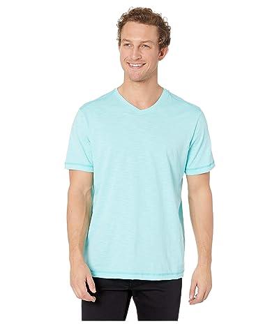 Tommy Bahama Portside Palms V-Neck T-Shirt (Blue Swell) Men