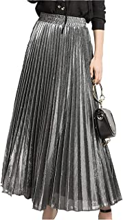 accordion pleated maxi skirt