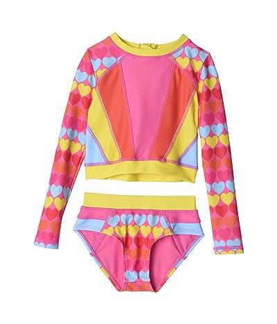 Appaman Kids Solana Rashguard Set (Toddler/Little Kids/Big Kids) (Rainbow Hearts) Girl